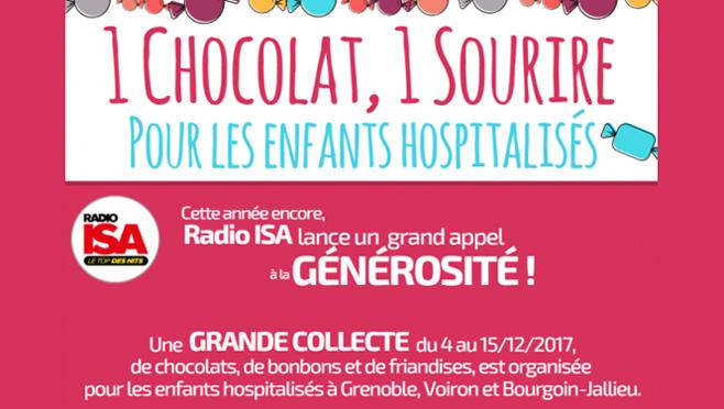 1 chocolat, 1 sourire pour les enfants hospitalisés