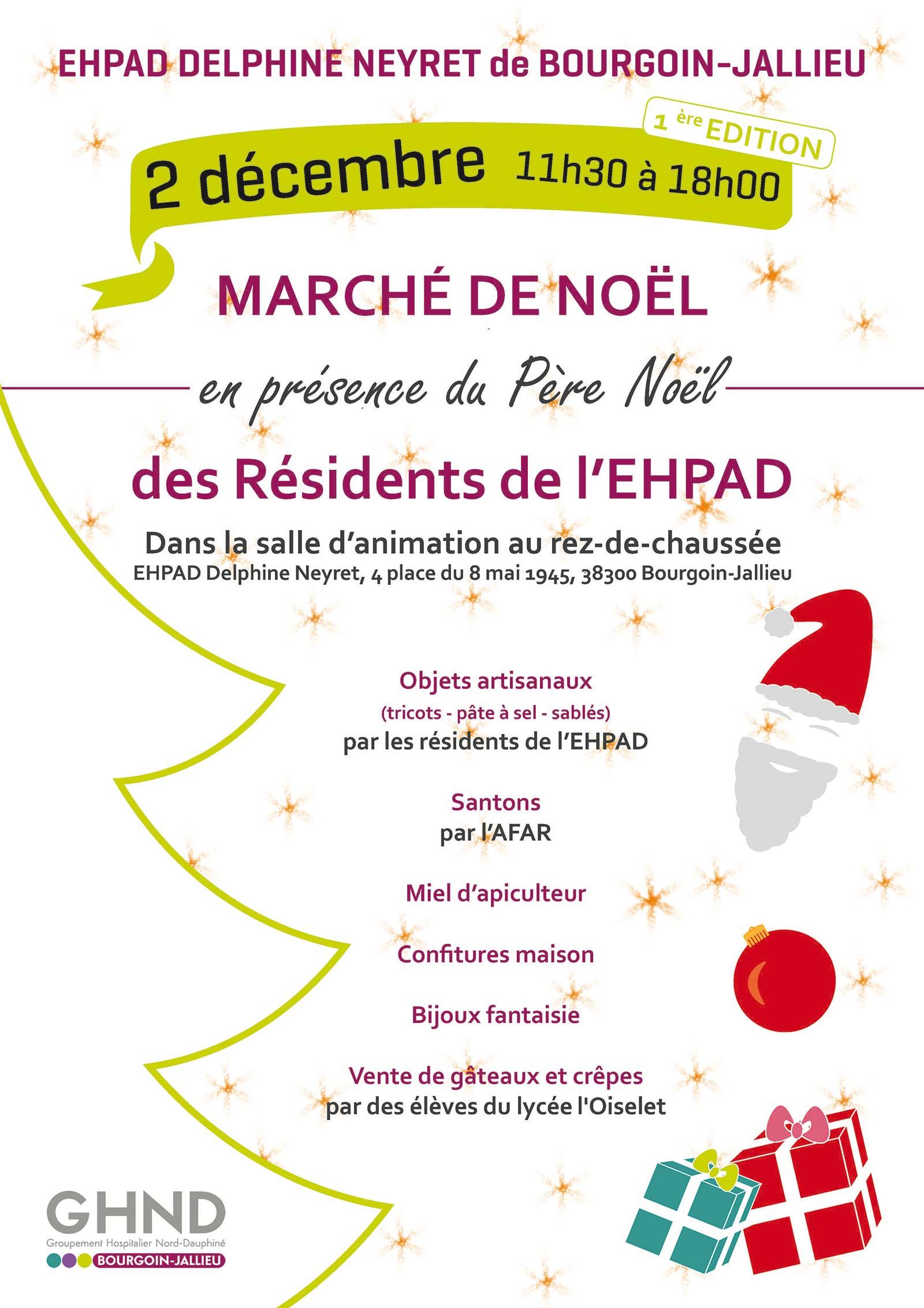 Affiche marché de Noël EHPAD Delphine Neyret 2017