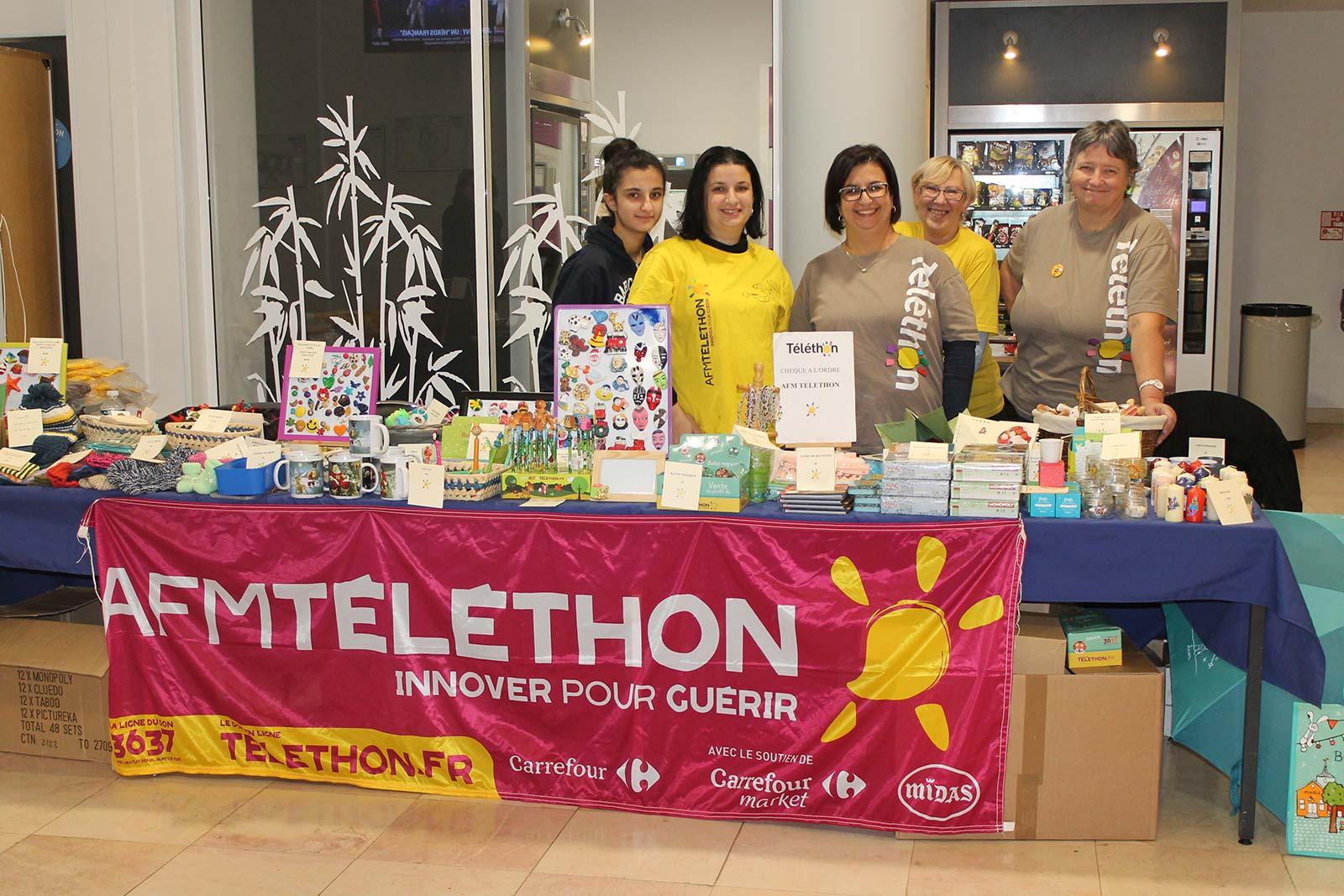 Stand Téléthon CHPO 2017