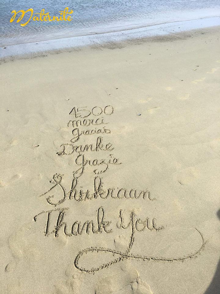 4500-likes sur la page Facebook de la Maternité