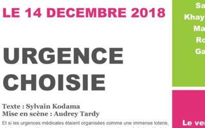 [14/12/18] «Urgence choisie», une pièce de théâtre jouée par des collégiens au CHPO