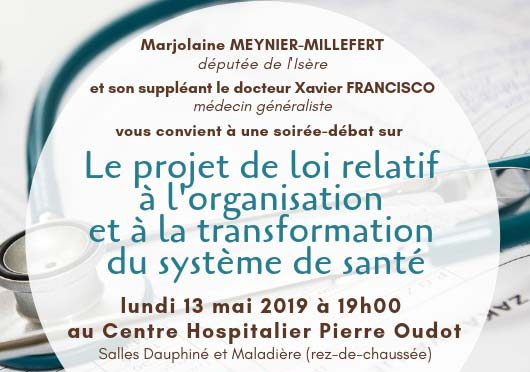 [13/05/19] INVITATION soirée-débat «Le projet de loi relatif à l'organisation et à la transformation du système de santé»