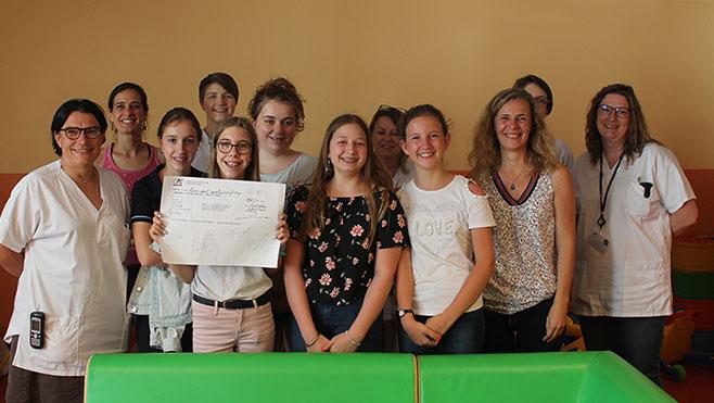 Une belle initiative de la part d'adolescentes du collège de Montalieu Vercieu