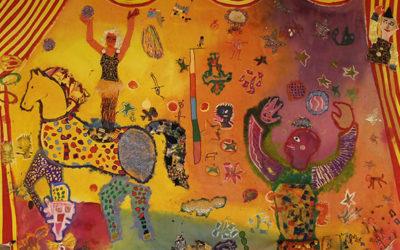 [10/07/19] Culture & Santé : exposition de l'œuvre « Les arts du cirque » de l'hôpital de jour de La Tour-du-Pin