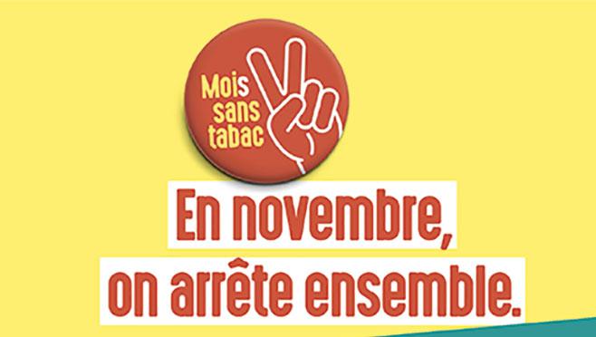 Novembre : le mois sans tabac, venez parler de votre projet d'arrêt