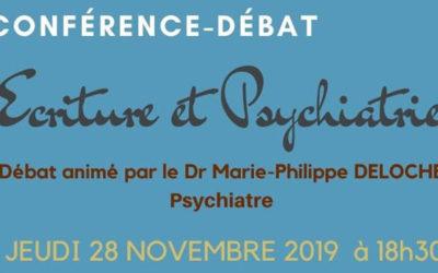 [28/11/19] Conférence-débat «écriture et psychiatrie»