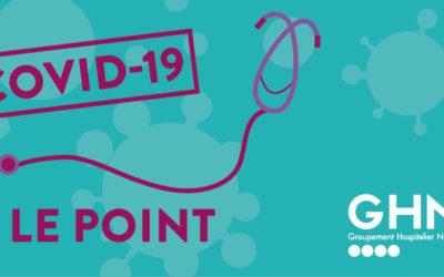 Covid-19 : Point de situation dans les établissements du GHND au 23 octobre 2020